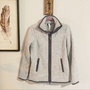 Lululemon athletica full zip gray sweatshirt